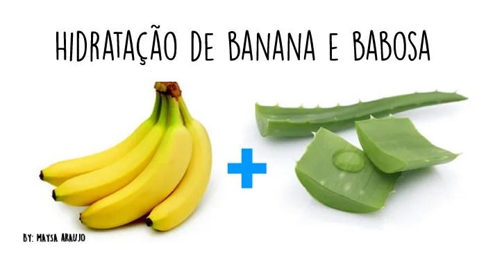 Hidratação de Banana com Babosa - Crescimento Capilar