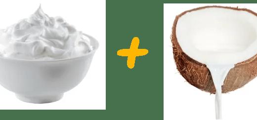 NUTRIÇÃO DE CREME DE LEITE E LEITE DE COCO