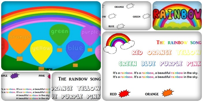 Couleurs en anglais - The Rainbow Song