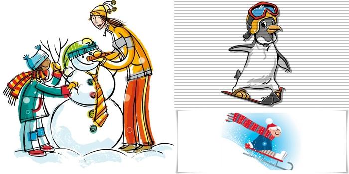 Discrimination visuelle GS – Les mots de l'hiver