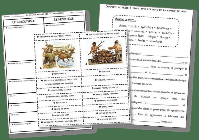 évaluation préhistoire