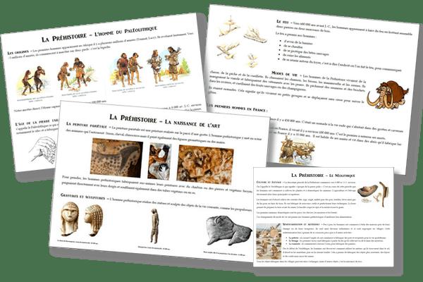 La préhistoire – Traces écrites et évaluation CE2