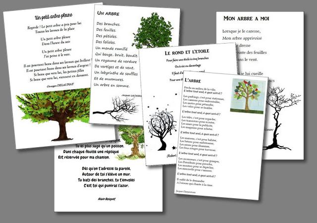 Poésies sur le thème de l'arbre