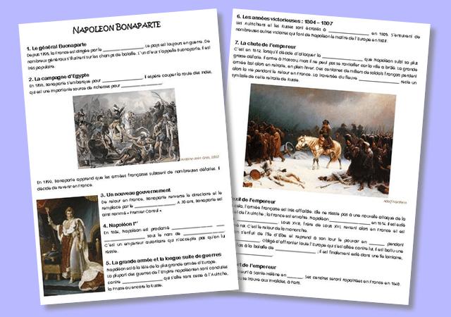 Trace écrite sur Napoléon Bonaparte – CM
