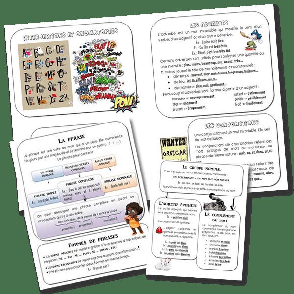 5, 6, 7, 8 – Les leçons de Français pour CM1 CM2 – Mise à jour 2018/2019