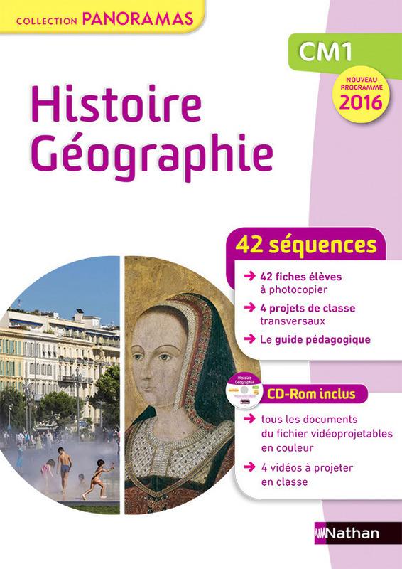 42 séquences Histoire Géographie CM1 – Collection Panoramas chez Nathan (Prog. 2016)