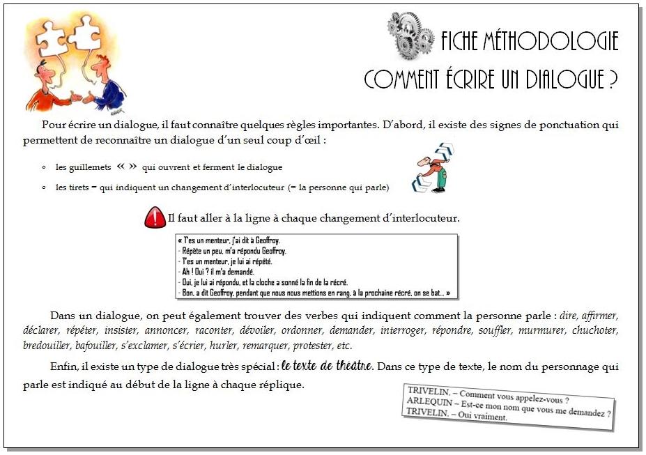 Écrire un dialogue – CM1/CM2