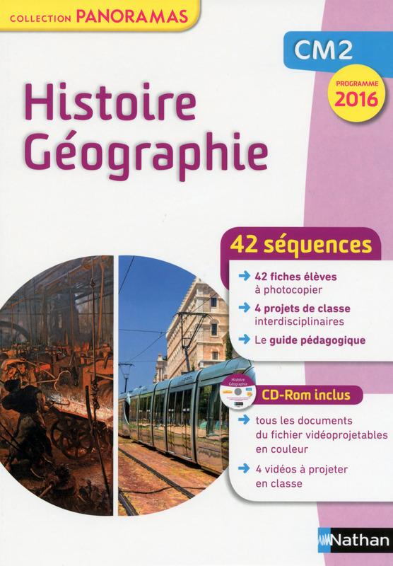 42 séquences Histoire Géographie CM2 – Collection Panoramas chez Nathan (Prog. 2016)