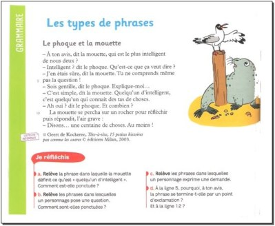 Les types de phrases - CM1/CM2