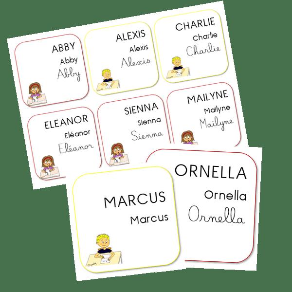 Étiquettes élèves – MS/GS