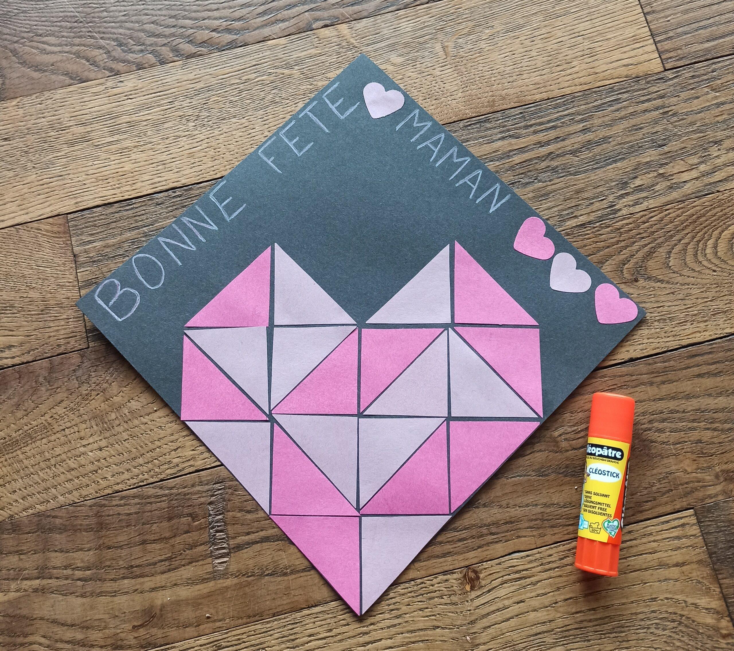 Fête des mères – Cœur à partir de triangles ♥