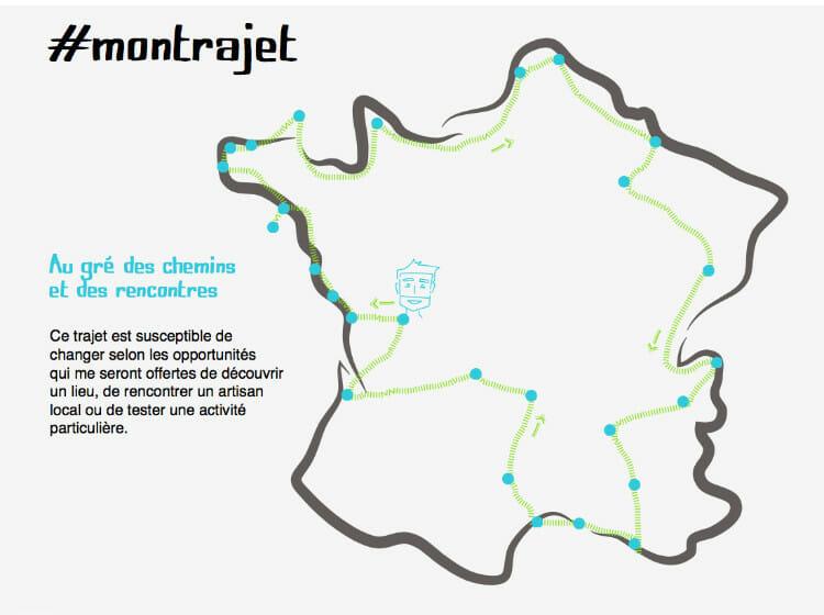 Carte du tour de France des natures et terroirs