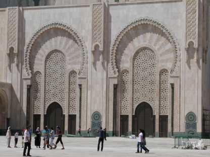 Portes de la Mosquée Hassan 2 à Casablanca