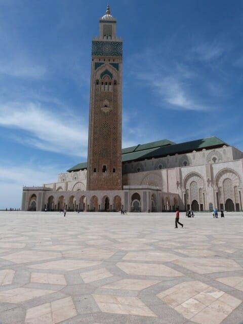Vue de l'esplanade de la Mosquée Hassan 2 à Casablanca