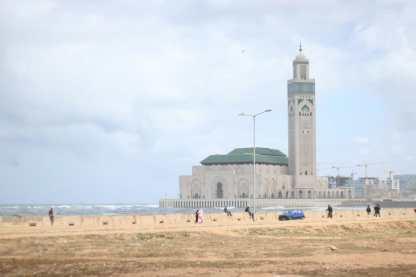 Vue de la Mosquée Hassan 2 à Casablanca