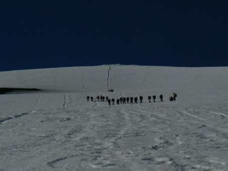Equipe d'ascension du Volcan Villarica