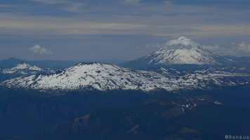 Vue des montagnes argentines du sommet du Volcan Villarica à Pucon Chili