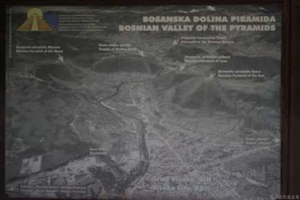 Photo du plan du site des Pyramides de Bosnie