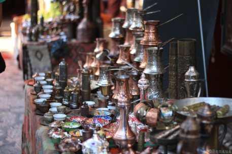 Photo d'un marché de Sarajevo en Bosnie Herzégovine