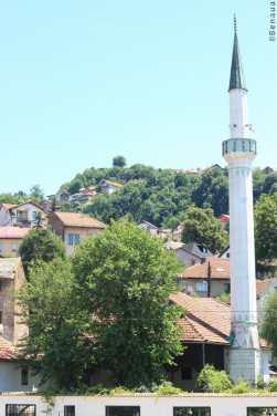 Un des nombreux minarets de Sarajevo en Bosnie Herzégovine