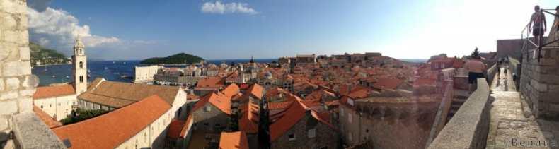 Panorama des remparts de Dubrovnik