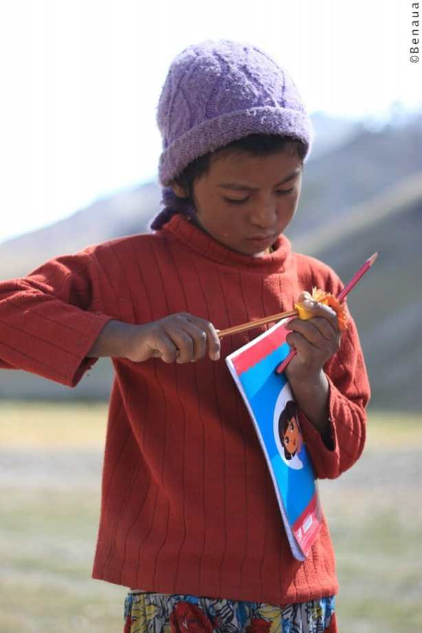 Enfant du Zanskar en Himalaya
