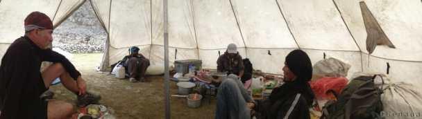 Trek au Zanskar en Himalaya - Tente cuisine - Benoit Richer