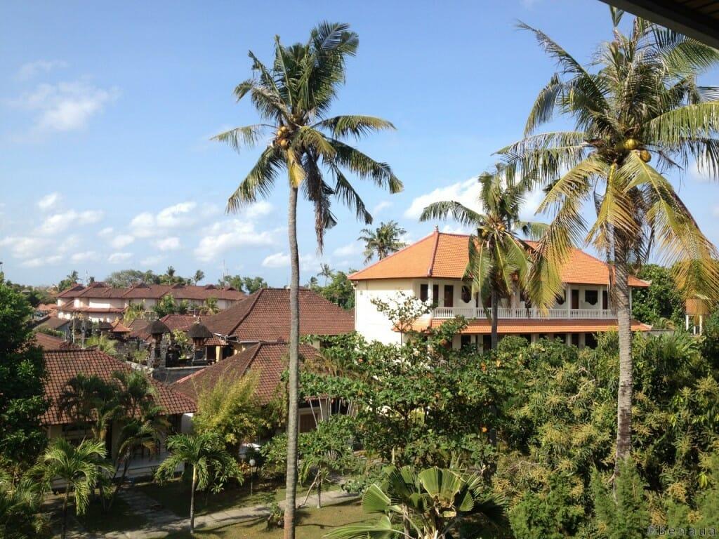 Bien se loger à Bali - vue de ma chambre au Mekar Jaya