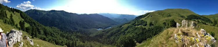 Randonner dans le Parc Biogradska Gora au Monténégro - Panorama sur Belovac