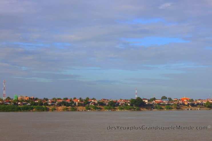 Koh Pen - Vue sur Kampong Cham