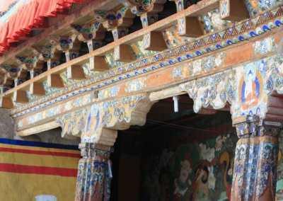 Monastères bouddhistes au Zanskar en Himalaya - Peintures du monastère de Darsha