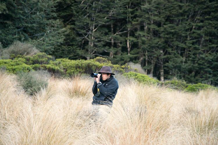 Mon compagnon d'aventure, Blair, en mission Takahé à Murchison