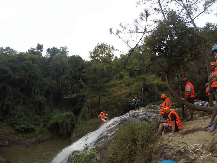 Dalat - Rappel en Canyoning