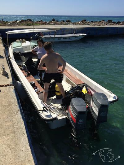 Plongée à Cuba - Bateau du centre de plongée Faro Luna - Rancho Luna - Cuba