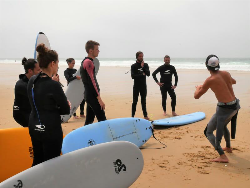 Cour de Surf avec James - Ecole de Surf