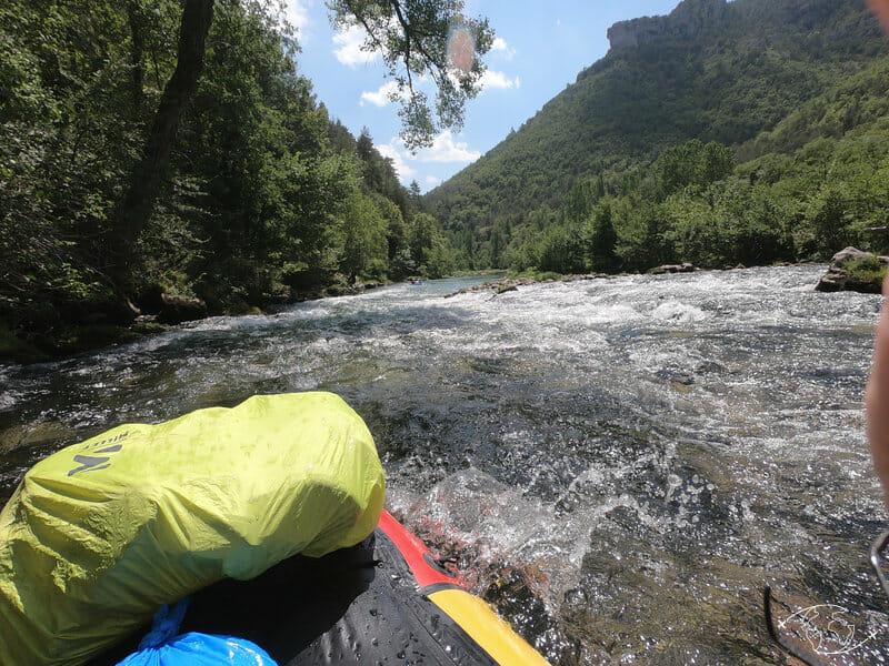 Dans les rapides - Gorges du Tarn