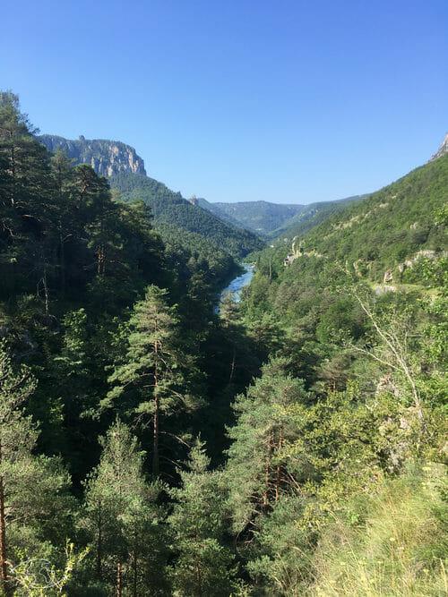 Vue du sentier des Gorges du Tarn