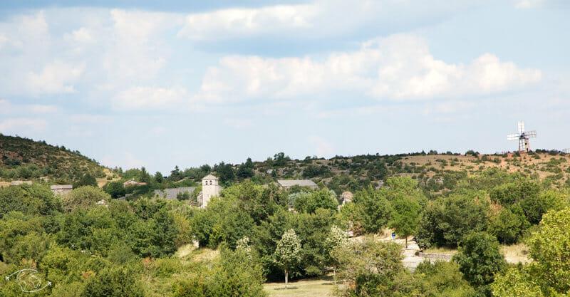 Randonnée Larzac - Arrivée à la Courvoiturade