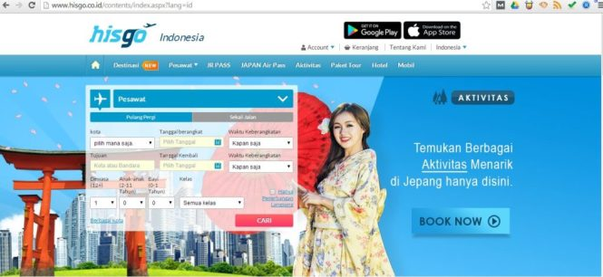 Online Travel Agent, OTA, Hisgo, Travel, Jepang, Holiday, Liburan, Booking, Tiket Pesawat, Booking Hotel