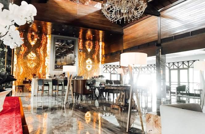 Hiasan Marmer di Sheraton Hotel Bandar Lampung