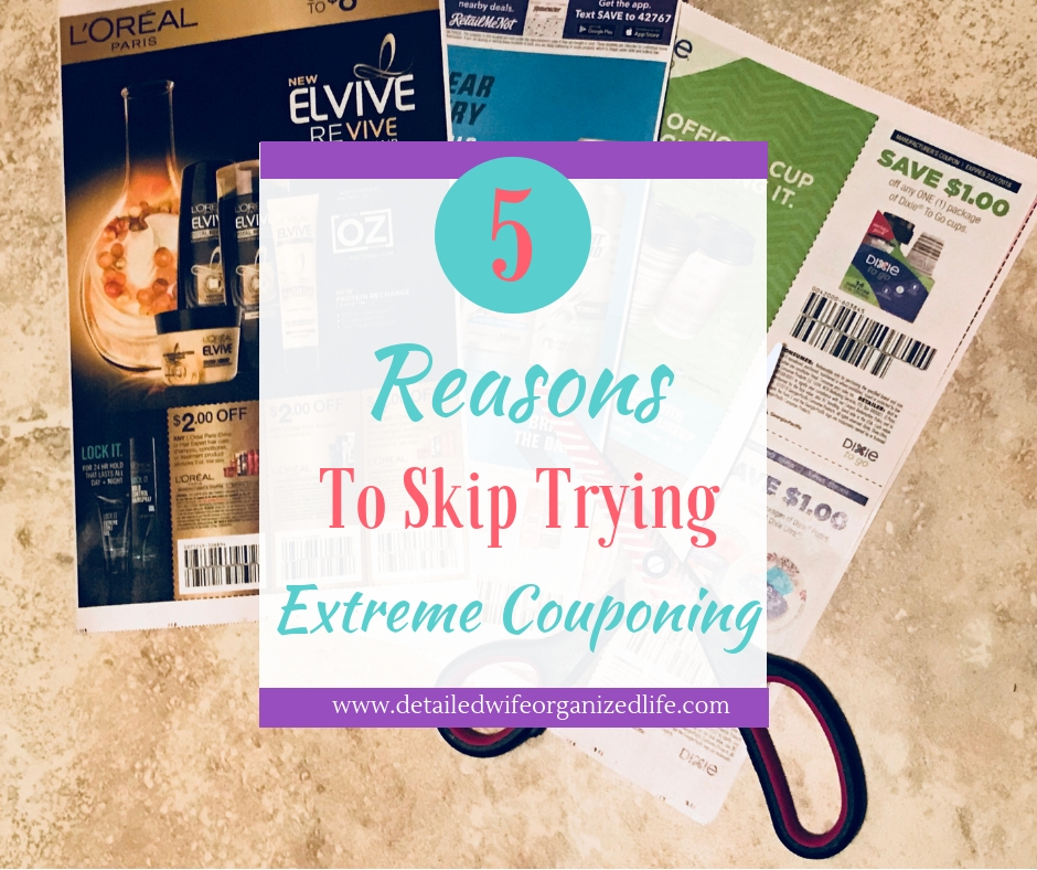 5 Reasons to Skip Trying Extreme Couponing