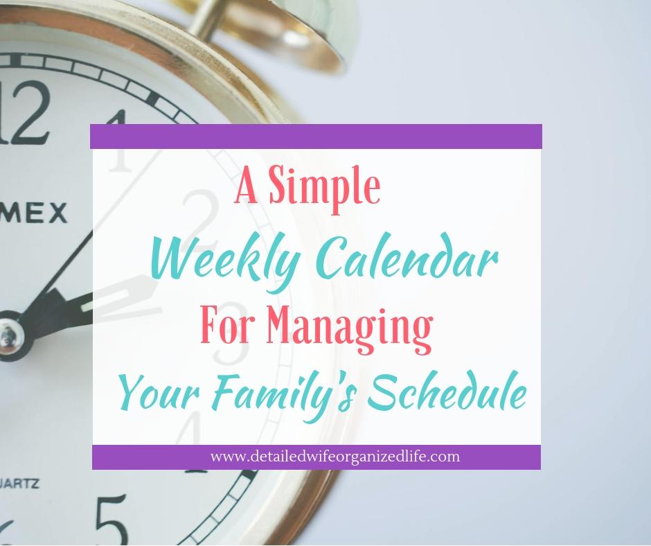 Weekly Family Calendar