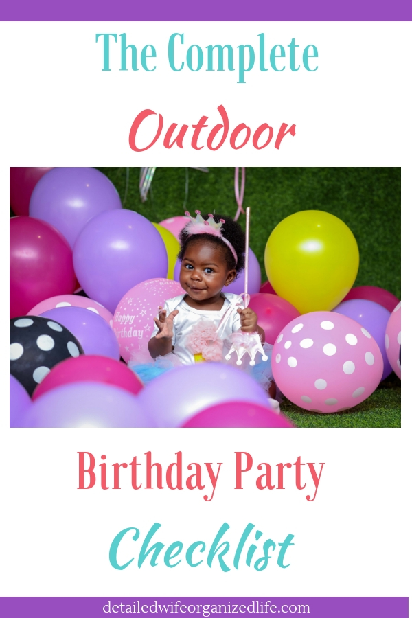 The Complete Outdoor Birthday Party Checklist