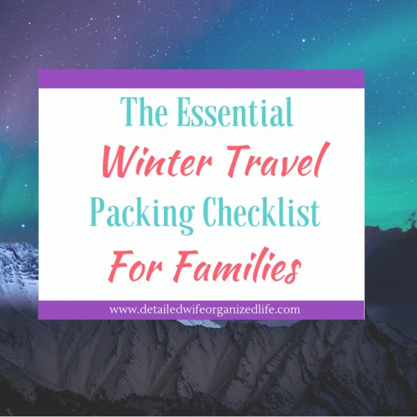 Packing Checklist for Cold Weather Travel