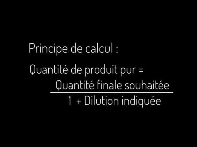 comment calculer une dilution