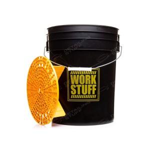 WORK STUFF Detailing Bucket Black Rinse + Separator - wiadro do mycia