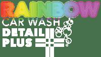 Rainbow Carwash Detail Plus logo white