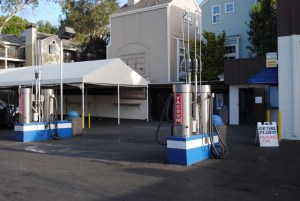 Vacuum area at Rainbow Carwash Detail Plus in Sunnyvale, California