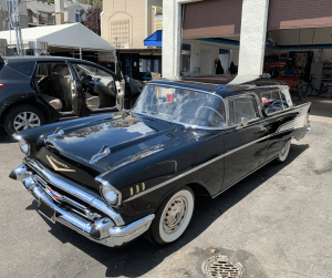 Vintage black car at Detail Plus Sunnyvale
