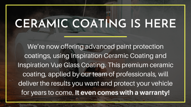 we are now offering ceramic coating